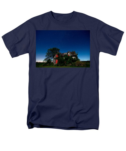 Haunted Farmhouse at Night T-Shirt by Cale Best