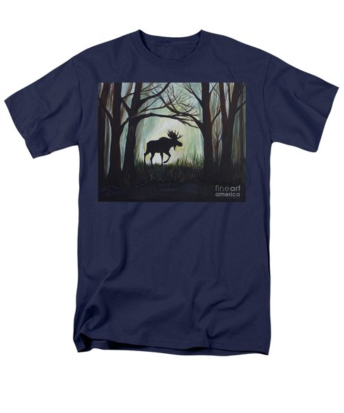 Majestic Bull Moose T-Shirt by Leslie Allen