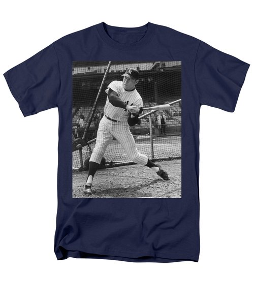 Mickey Mantle Poster Men's T-Shirt  (Regular Fit) by Gianfranco Weiss
