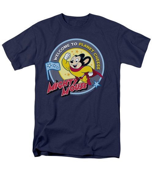 Mighty Mouse - Planet Cheese Men's T-Shirt  (Regular Fit) by Brand A