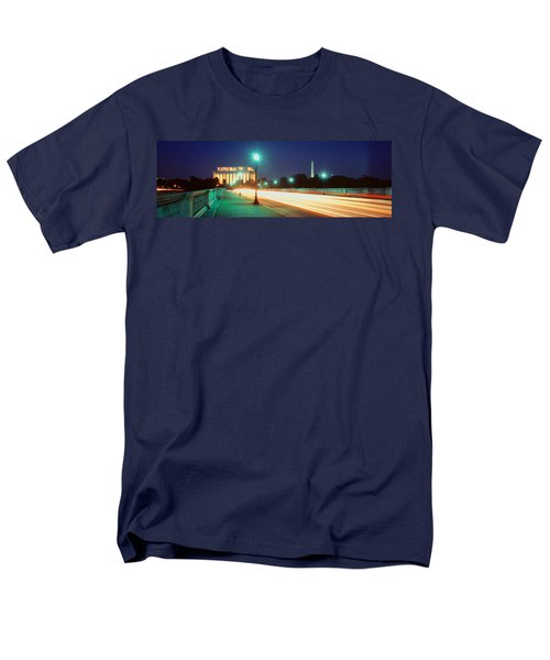 Night, Lincoln Memorial, District Of Men's T-Shirt  (Regular Fit) by Panoramic Images