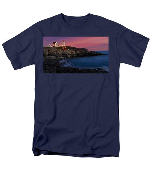 Nubble Lighthouse At Sunset T-Shirt by Susan Candelario