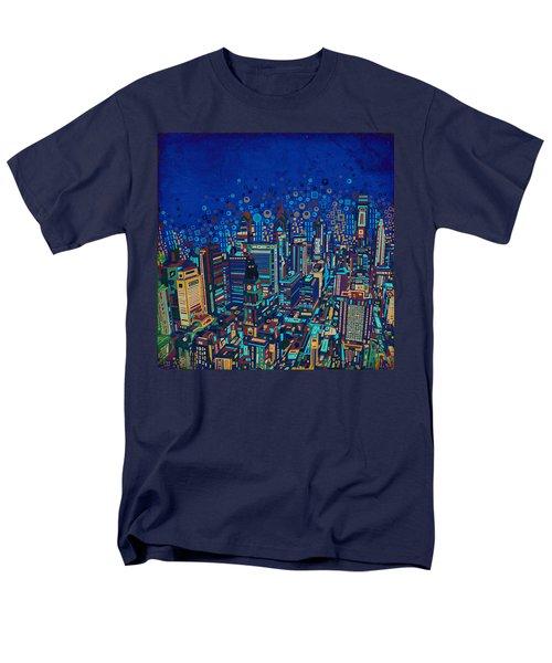 Philadelphia Panorama Pop Art 2 Men's T-Shirt  (Regular Fit) by Bekim Art