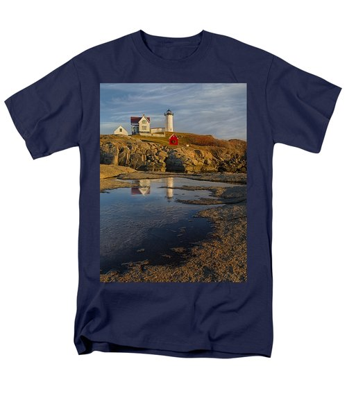 Reflecting On Nubble Lighthouse T-Shirt by Susan Candelario