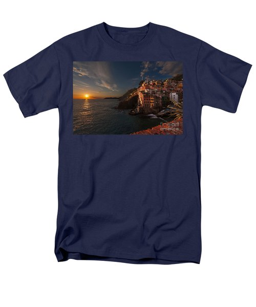 Riomaggiore Peaceful Sunset T-Shirt by Mike Reid
