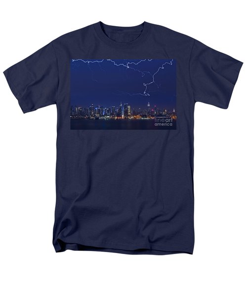 Strikes and Bolts in NYC T-Shirt by Susan Candelario