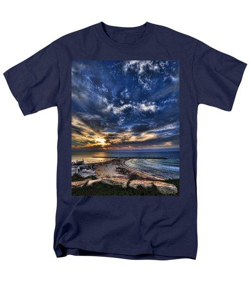 Tel Aviv sunset at Hilton beach T-Shirt by Ron Shoshani