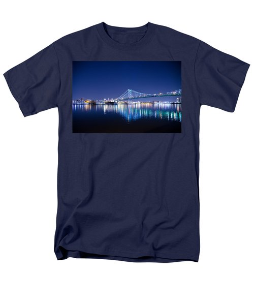 The Benjamin Franklin Bridge at Night T-Shirt by Bill Cannon