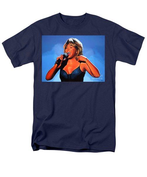 Tina Turner Queen Of Rock Men's T-Shirt  (Regular Fit) by Paul Meijering