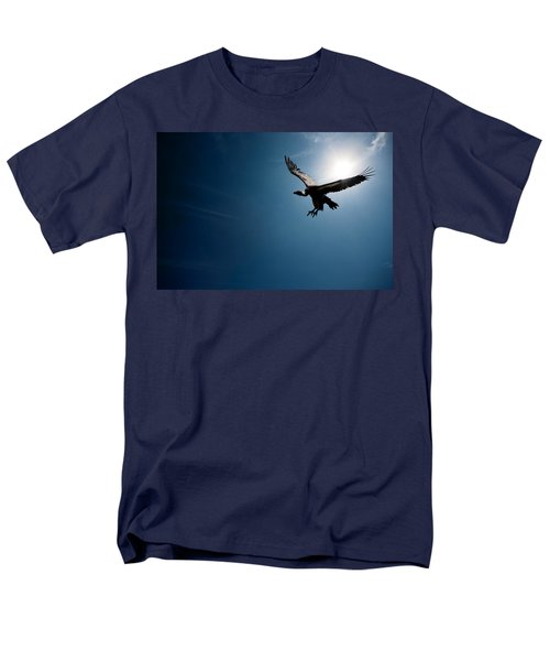 Vulture Flying In Front Of The Sun Men's T-Shirt  (Regular Fit) by Johan Swanepoel