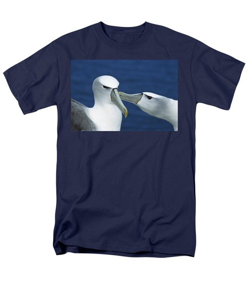 White-capped Albatrosses Courting Men's T-Shirt  (Regular Fit) by Tui De Roy
