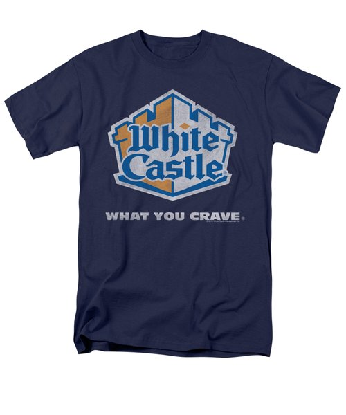White Castle - Distressed Logo Men's T-Shirt  (Regular Fit) by Brand A