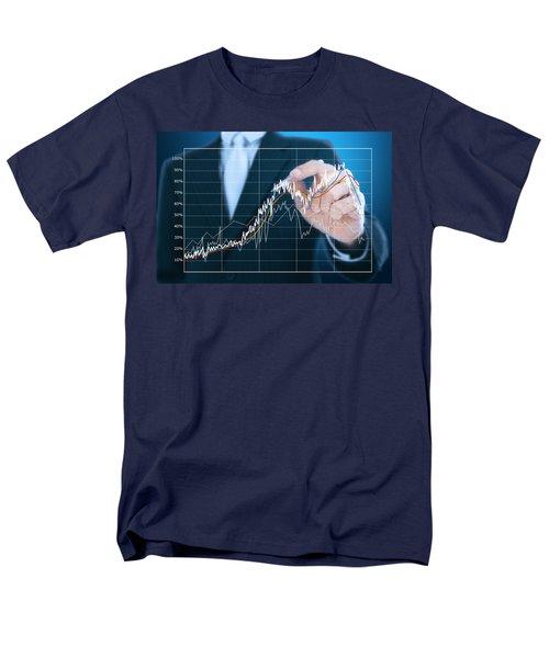 businessman writing graph of stock market  T-Shirt by Setsiri Silapasuwanchai