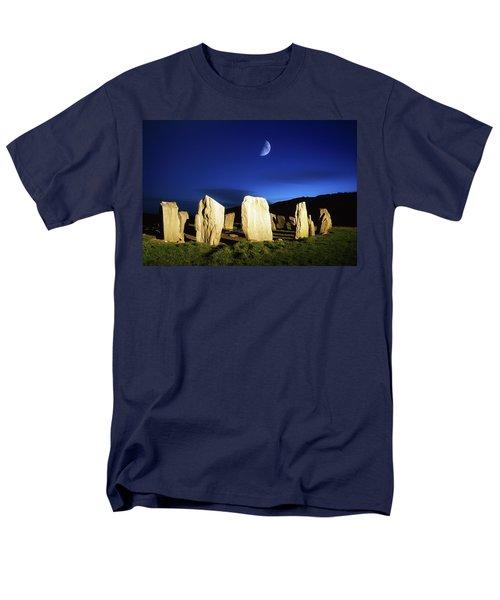 Drombeg, County Cork, Ireland Moon Over T-Shirt by Richard Cummins