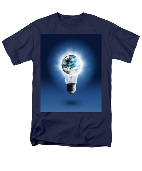light bulb with globe T-Shirt by Setsiri Silapasuwanchai