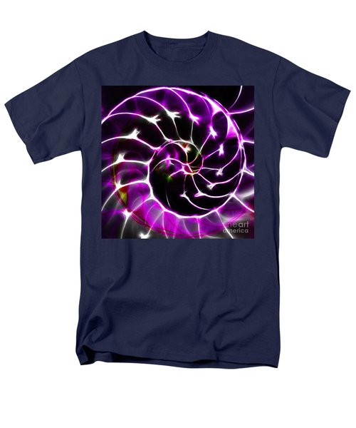Nautilus Shell Ying and Yang - Electric - v1 - Violet T-Shirt by Wingsdomain Art and Photography