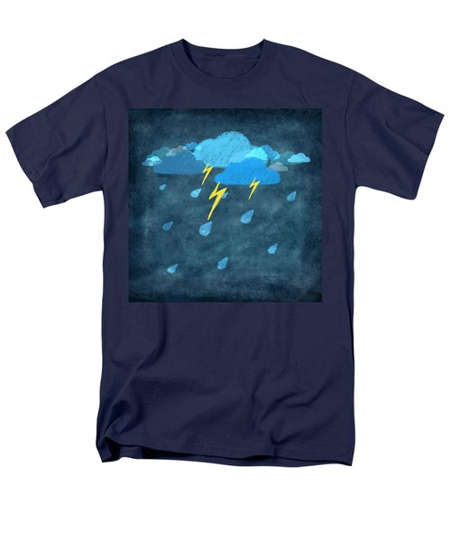 rainy day with storm and thunder T-Shirt by Setsiri Silapasuwanchai
