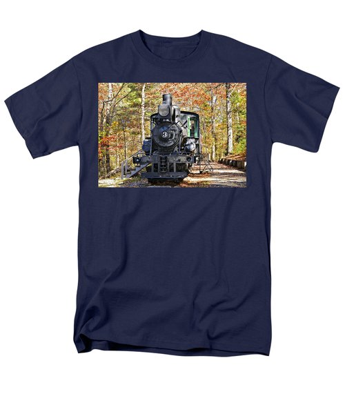 Steam Locomotive on Display T-Shirt by Susan Leggett