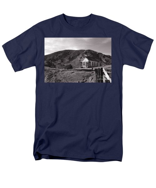 The Schoolhouse in Calico Ghost Town California T-Shirt by Susanne Van Hulst