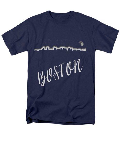Boston Skyline Poster Men's T-Shirt  (Regular Fit) by Joann Vitali