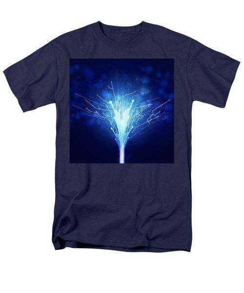 fiber optics and circuit board T-Shirt by Setsiri Silapasuwanchai