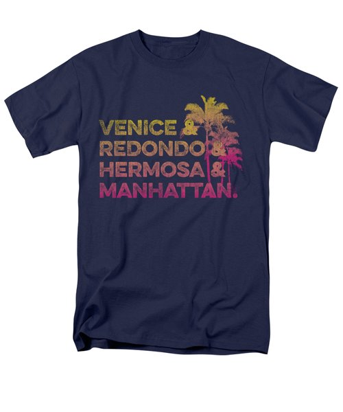 Venice And Redondo And Hermosa And Manhattan Men's T-Shirt  (Regular Fit) by SoCal Brand