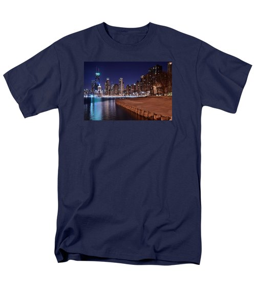 Chicago From The North Men's T-Shirt  (Regular Fit) by Frozen in Time Fine Art Photography
