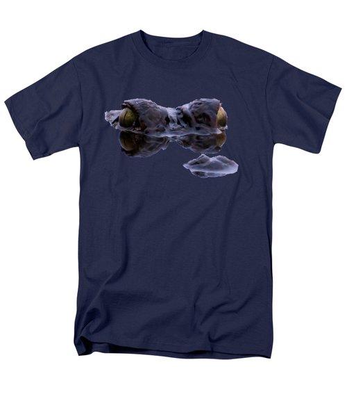 Alligator Eyes On The Foggy Lake Men's T-Shirt  (Regular Fit) by Zina Stromberg