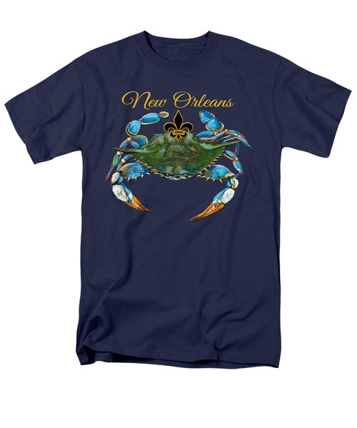 Louisiana Blue on Red T-Shirt by Dianne Parks
