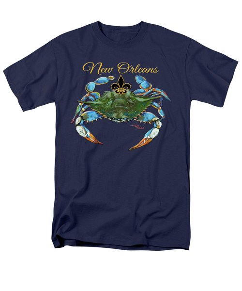 Louisiana Blue On Red Men's T-Shirt  (Regular Fit) by Dianne Parks