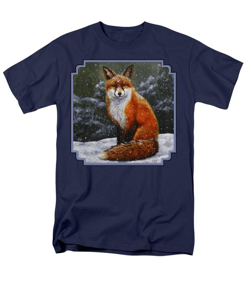 Snow Fox Men's T-Shirt  (Regular Fit) by Crista Forest