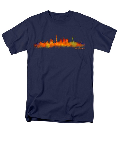 Barcelona City Skyline Hq V2 Men's T-Shirt  (Regular Fit) by HQ Photo