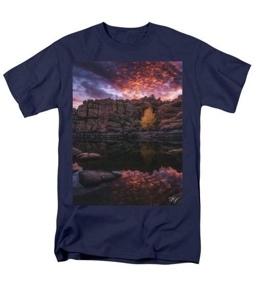 Candle Lit Lake T-Shirt by Peter Coskun