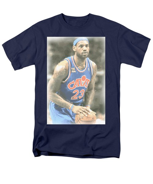 Cleveland Cavaliers Lebron James 1 Men's T-Shirt  (Regular Fit) by Joe Hamilton