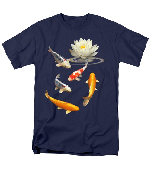Colorful Koi With Water Lily Men's T-Shirt  (Regular Fit) by Gill Billington