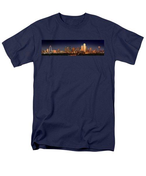 Dallas Skyline At Dusk  Men's T-Shirt  (Regular Fit) by Jon Holiday