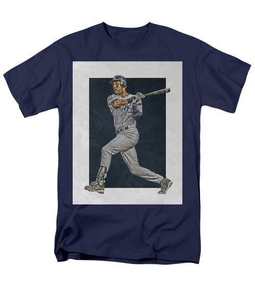 Derek Jeter New York Yankees Art 2 Men's T-Shirt  (Regular Fit) by Joe Hamilton