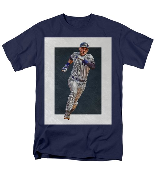 Derek Jeter New York Yankees Art 3 Men's T-Shirt  (Regular Fit) by Joe Hamilton