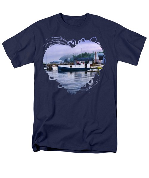 Door County Gills Rock Fishing Village Men's T-Shirt  (Regular Fit) by Christopher Arndt