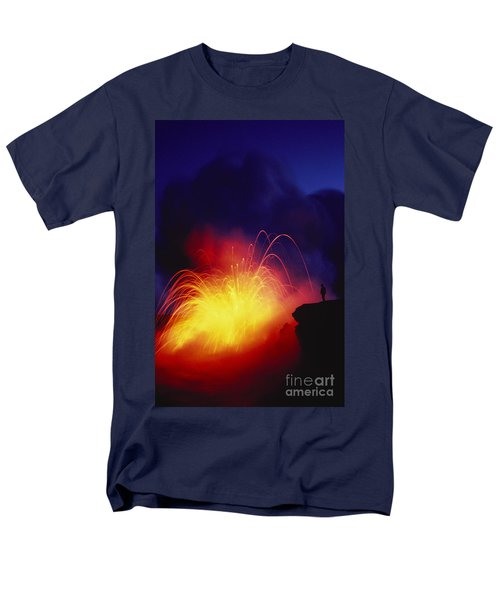 Exploding Lava And Person T-Shirt by Greg Vaughn - Printscapes