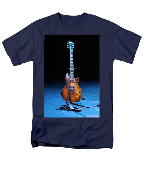 Guitar Blue T-Shirt by Lauri Novak
