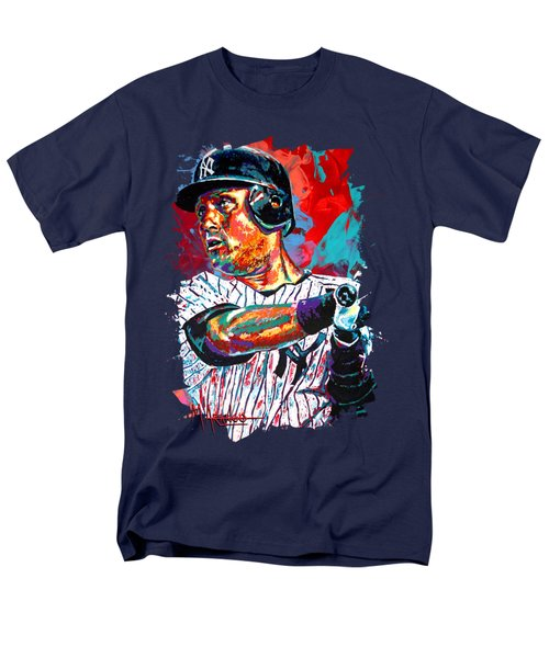 Jeter at Bat T-Shirt by Maria Arango