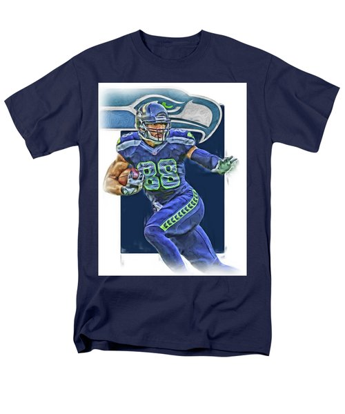 Jimmy Graham Seattle Seahawks Oil Art Men's T-Shirt  (Regular Fit) by Joe Hamilton