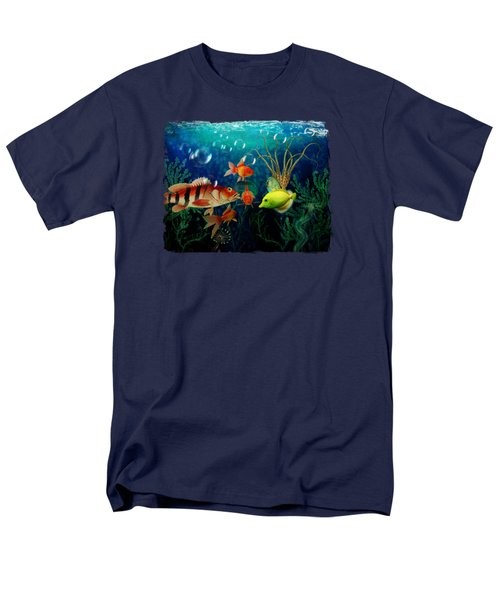 Joy To The Fishes  Men's T-Shirt  (Regular Fit) by Terry Fleckney