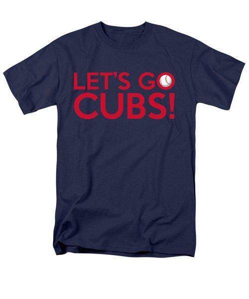 Let's Go Cubs Men's T-Shirt  (Regular Fit) by Florian Rodarte
