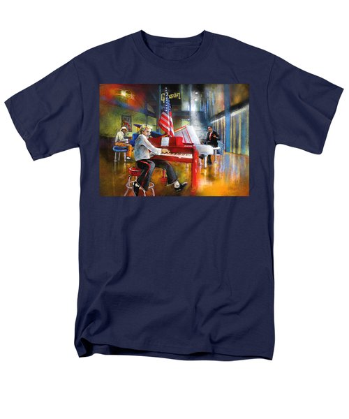 Memphis Nights 04 Men's T-Shirt  (Regular Fit) by Miki De Goodaboom