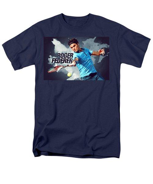 Roger Federer Men's T-Shirt  (Regular Fit) by Semih Yurdabak