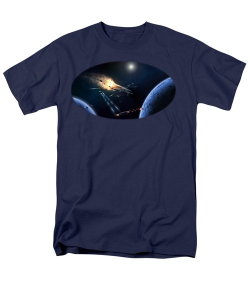 Space Battle I Men's T-Shirt  (Regular Fit) by Carlos M R Alves
