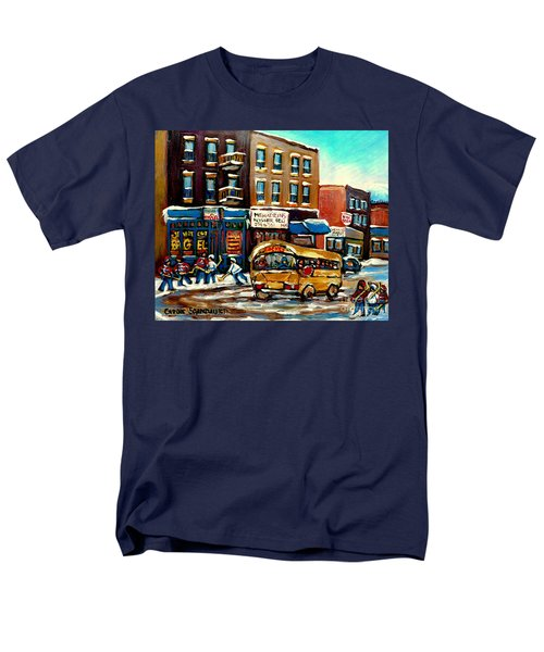 ST. VIATEUR BAGEL WITH HOCKEY BUS  T-Shirt by CAROLE SPANDAU