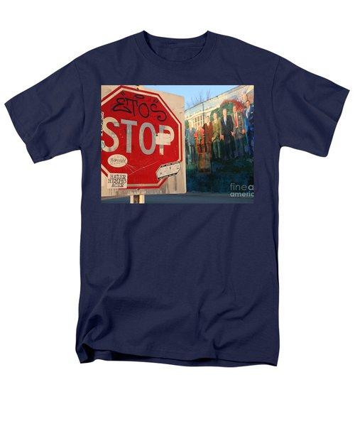 Street Art Washington D.c.  Men's T-Shirt  (Regular Fit) by Clay Cofer